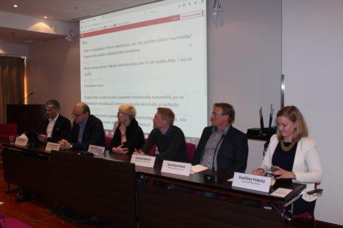 Paneelikeskustelun osanottajat edustivat laajalti suomalaista luonnonvara-alaa.
