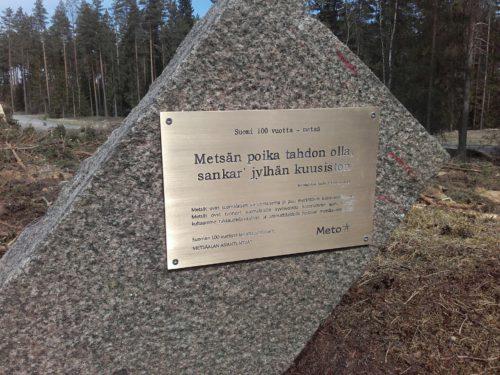 Meton Suomi 100-vuotta metsä istutettiin Lappeenrannassa